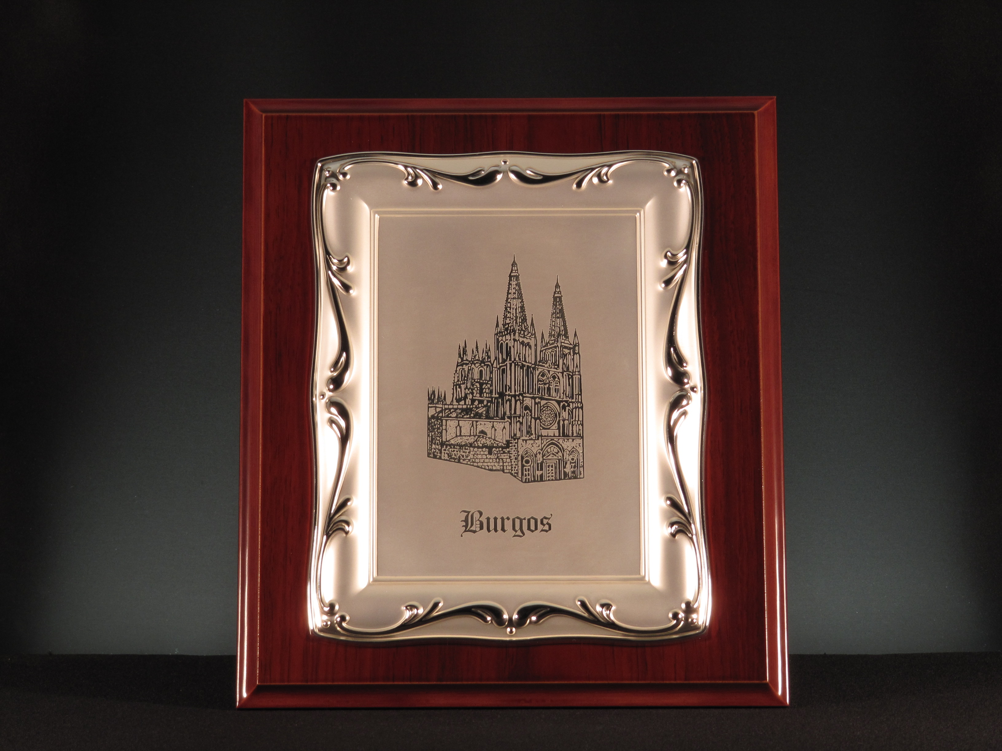 Placa plateada mate 626-LP CATEDRAL BURGOS