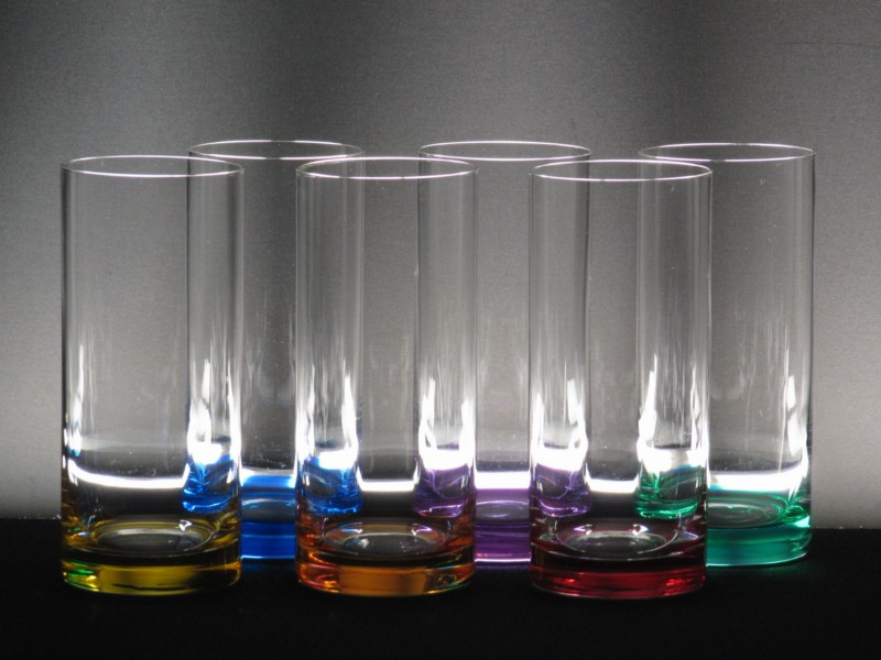 Juego 6 vasos 5089 altos colores whisky cristal de for Copas para whisky