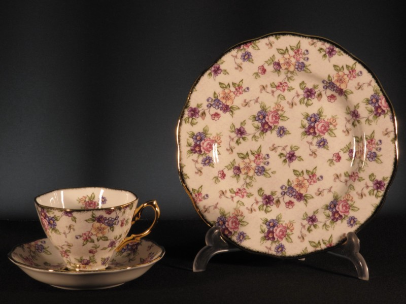 Set Té 100 Aniversario ROYAL ALBERT 1940 English Chintz - RA3304