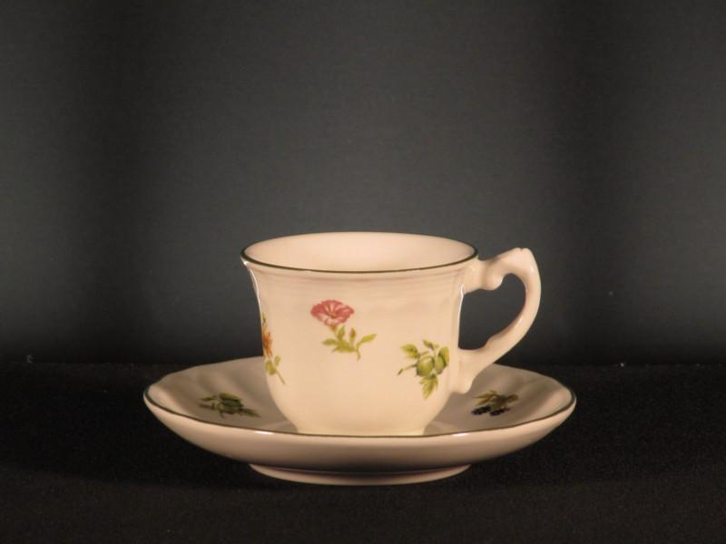 Juego 6 tazas caf flores y frutas san claudio tadeval for Juego tazas cafe