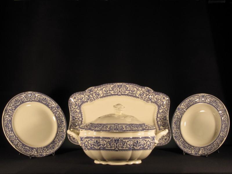 Vajilla 150 aniversario la cartuja de sevilla 56 piezas tadeval artesan a del cristal - Vajilla cartuja de sevilla ...