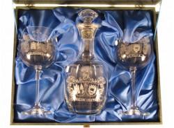 Estuche 2 Copas MAXIMA Borgoña + Botella 1888 - Escudo Heráldico 3