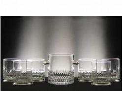 Estuche Whisky 6523 7 Piezas T/225 Pie Plata - Tallado a Mano
