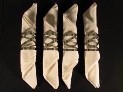 Set 4 Servilleteros individuales ZAHA-894/4141 Acero