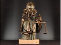 "ESCULTURA""189-JUSTICIA C/Peana""-ANGLADA"