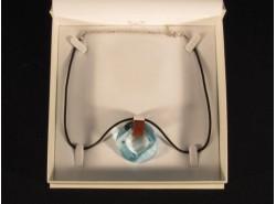 Colgante Cristal/Plata Círculo Azul - PRECIOSA