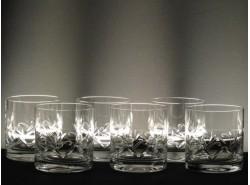 Juego 6 Vasos Whisky Bajos 5089 T/238 - BOHEMIA