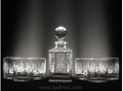 Estuche Whisky 5089-4108 7 Piezas - T/129 Tallado a Mano - BOHEMIA