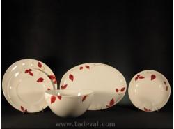 Vajilla RED LEAVES-CAPEANS - 20 piezas