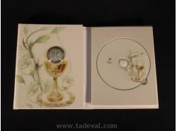 ÁLBUM 13X18 + CD 1ªCOMUNIÓN-PLATA-DISEÑO