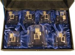 Estuche Whisky 5089 7 Piezas Cuadrados Plata - BOHEMIA