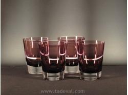 Juego 4 Vasos COLOUR CONCEPT Burgundy