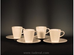 Set 4 Tazas Moka CAFFÈ CLUB FLORAL TOUCH