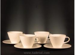 Set 4 Tazas Café con Leche CAFFÈ CLUB FLORAL TOUCH - Villeroy &