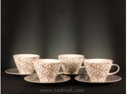 Set 4 Tazas Café con Leche CAFFÈ CLUB FLORAL STEAM - Villeroy &