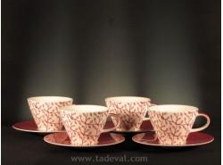 Set 4 Tazas Café con Leche CAFFÈ CLUB FLORAL BERRY - Villeroy &