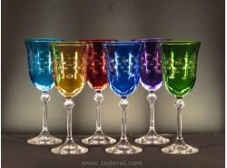 Juego 6 Copas DIVA Agua/Vino Colores FD53110