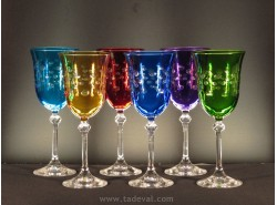 Juego 6 Copas Agua/Vino DIVA COLORES - FADE