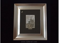 CUADRO CATEDRAL PLATA 10X15 - HISPÁNICA