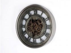 Reloj Pared Redondo Metálico/Cristal 60 cm. Con Movimiento